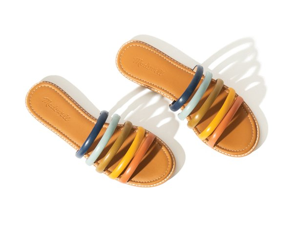 multicolored sandal from Madewell