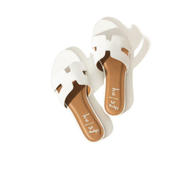 white sandal by French Sole