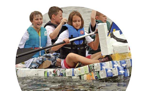 Milk Carton boat race