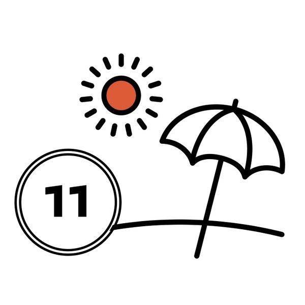 Umbrella and sun