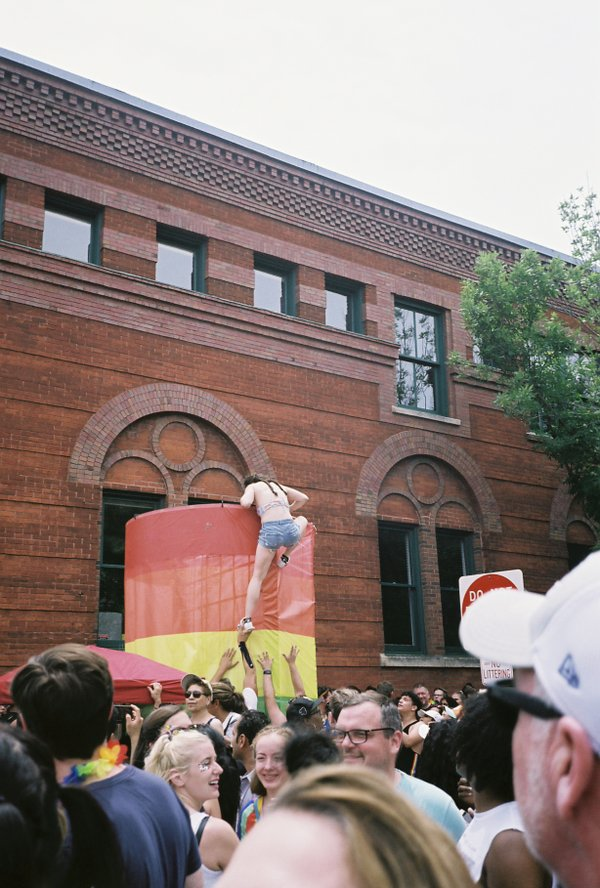 A crowd during pride