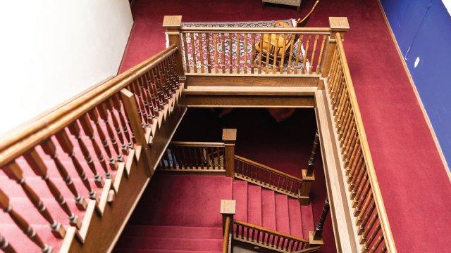 Stairwell of Calumet Inn