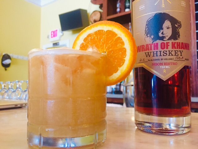 Wrath of Khanh whiskey, from J. Carver and Ngon Bistro