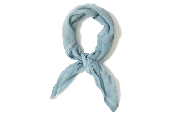 blue neck scarf