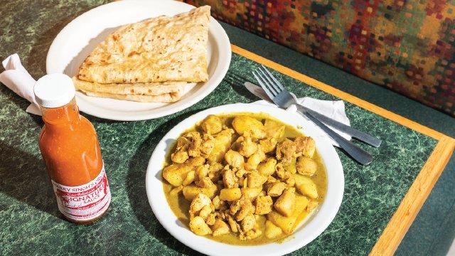 Roti Chicken Potato Curry