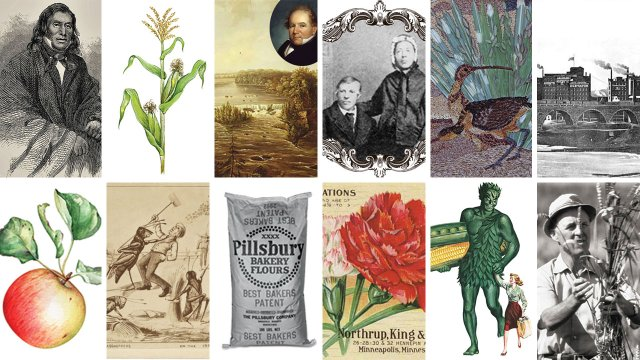 collage of the history of farming in minnesota