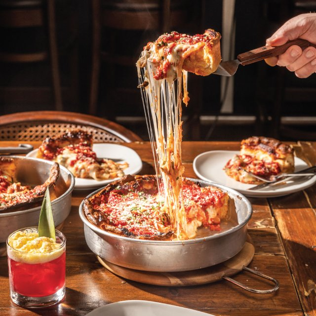 Deep Dish Pizza at The Fitz