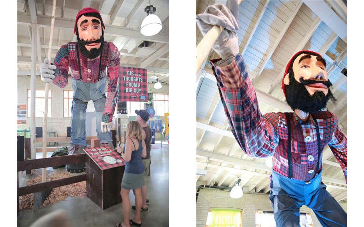 This 17-Foot-Tall Paul Bunyan Statue Could Be Yours