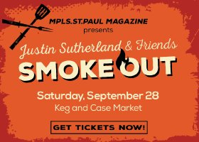 Justin Sutherland and Friends Smoke Out promotional graphic