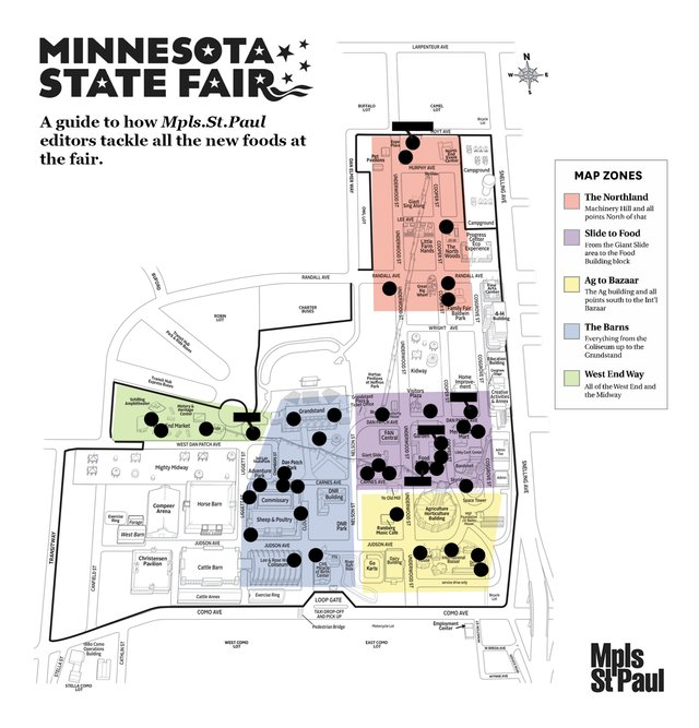 map of the minnesota state fair