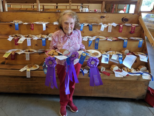 Marjorie Johnson at the Anoka County Fair 2019