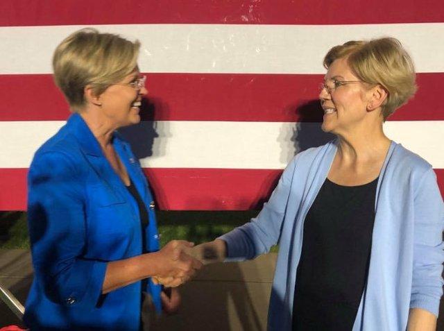 Elizabeth Warren and Doppelganger