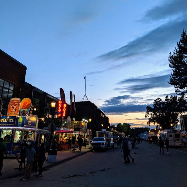 Sunset at the Minnesota State Fair 2019