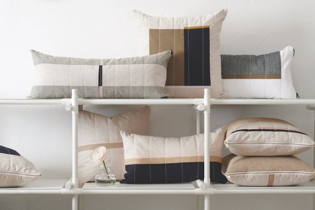 Louis Gray Throw Pillows