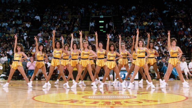 Paula Abdul with Lakers Girls