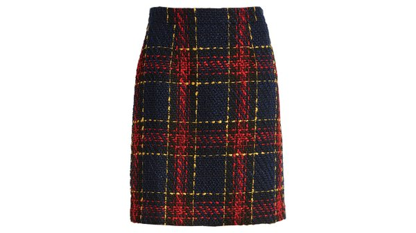 Tweed miniskirt ($79), by Halogen