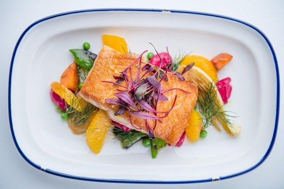 pan seared skuna salmon