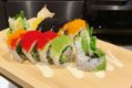 colorful roll of sushi