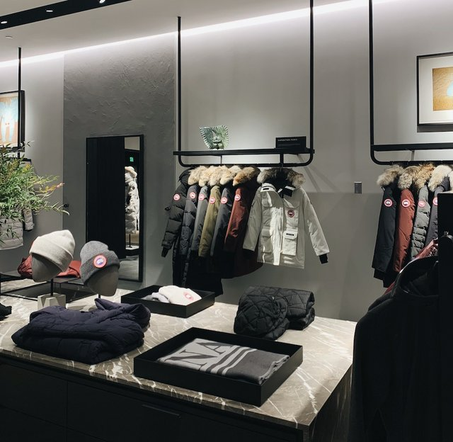 canada goose store interior