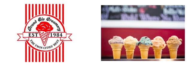 Grand ole Creamery logo and sample