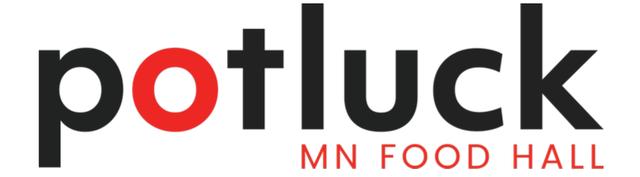 potluck Minnesota food hall logo