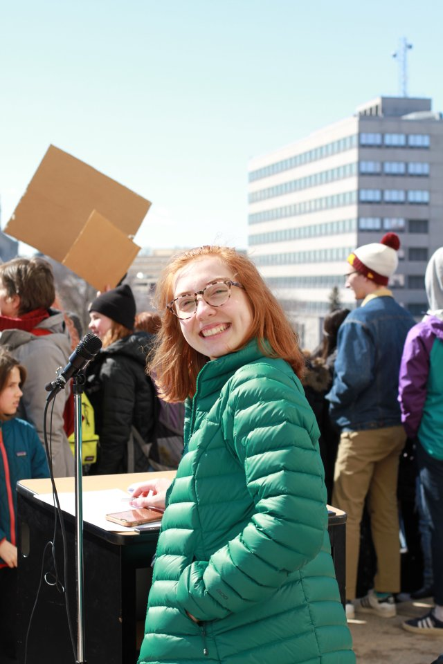 Mia DiLorenzo at the March 15 Climate Strike