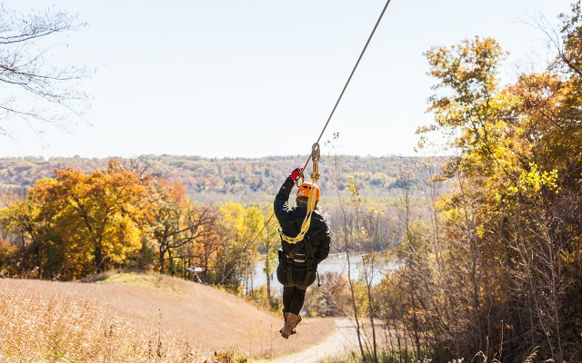 Person on zipline