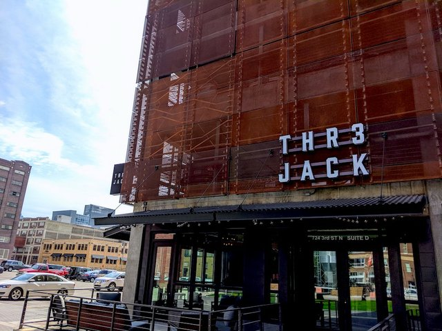 exterior of thr3 jack being constructed
