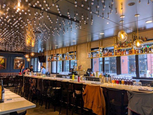 interior shot of the bar