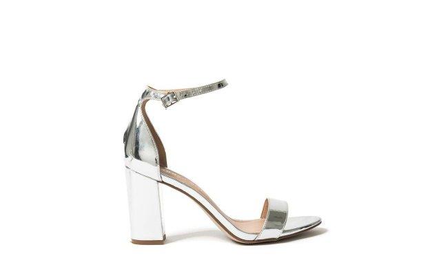 Emily silver high heels