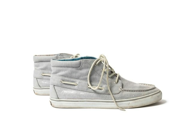 white hightop casual shoes