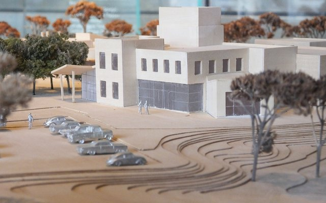 architect's model of office building