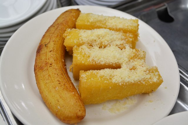 fried bannas and pineapple