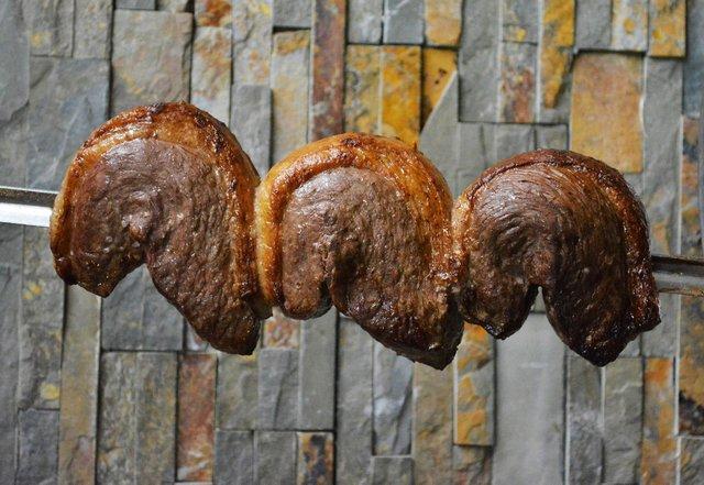 meat on a skewer