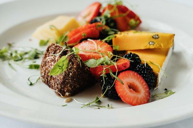 fruity desert plate