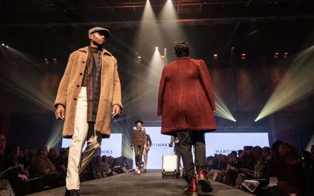 group of models on runway at Fashionopolis