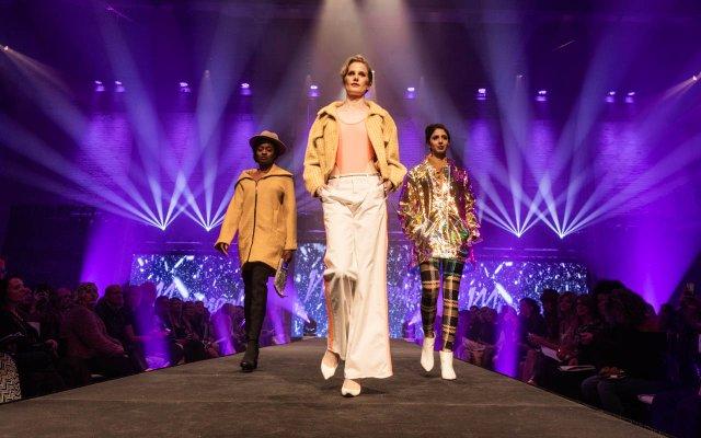 women on runway at Fashionopolis