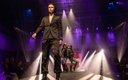 Fashionopolis 2019: man wearing brown pants and brown brocade blazer