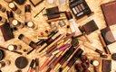 Items on makeup table at Fashionopolis