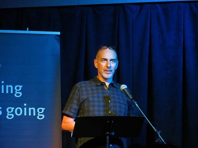 Steve Healey speaking