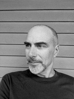 black and white photo of Steve Healey