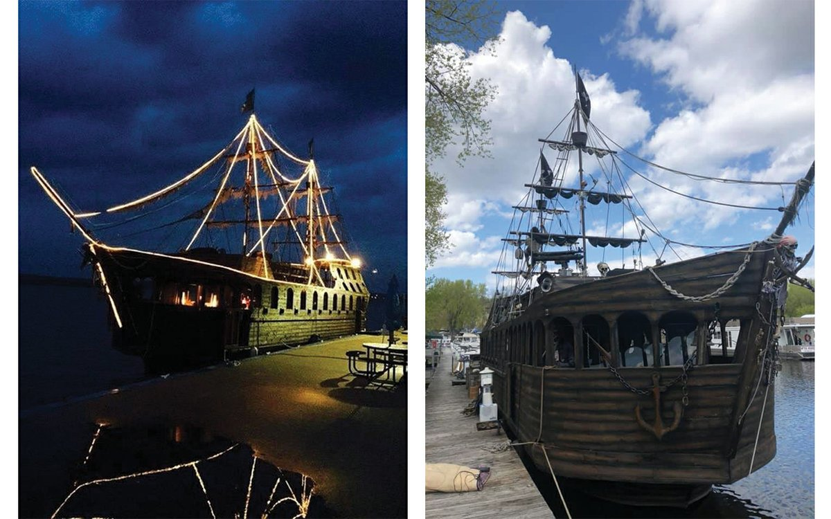 This Pirate Ship Airbnb Sits on the Mississippi River in Minnesota