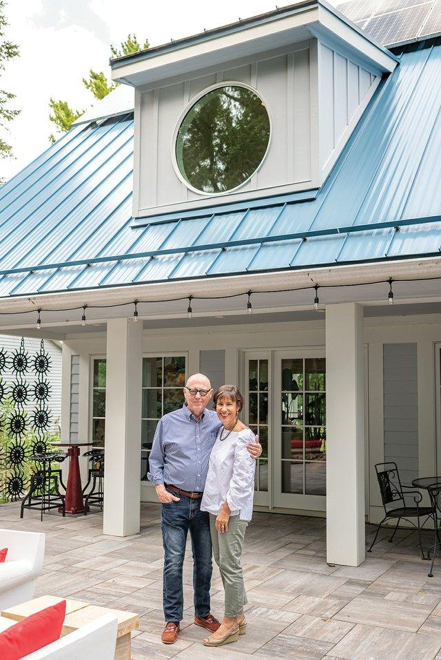 Bob Thacker and Karen Cherewatuk on their patio