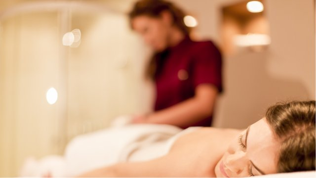 Massage therapy service at spa