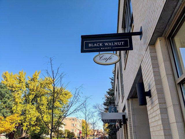 the sign outside black walnut cafe