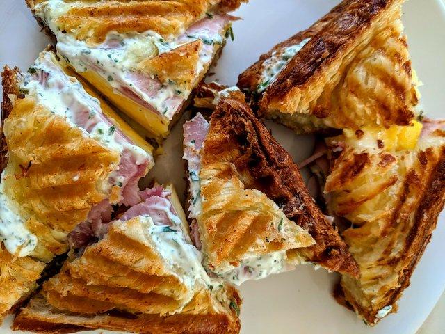Hello pressed brekkie sandwich