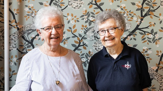 Sisters Agnes Foley and Jane Hurley