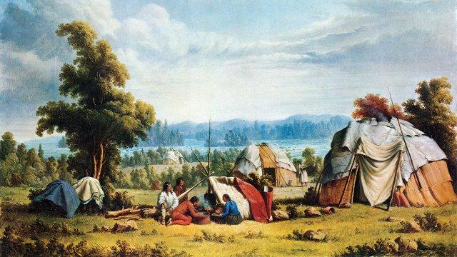 Ojibwe camp