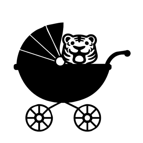 Stroller with tiger