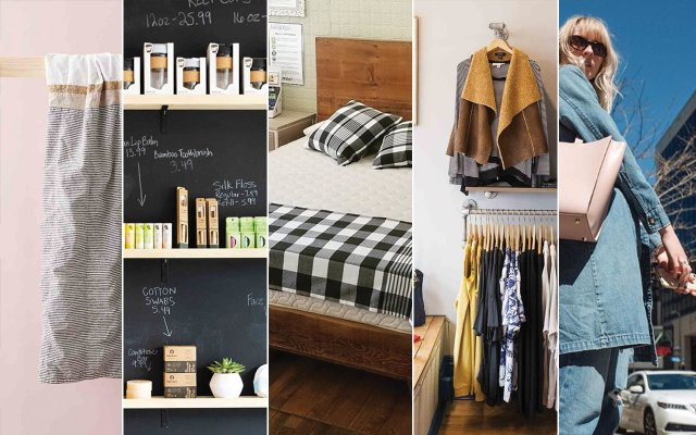 Collage of eco-friendly products